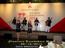 Ban-Nhac-Flamenco-Tumbadora-26-12-2014-Hoi-Nghi-Khach-Hang-Thep-Nha-Be-Gem-Center